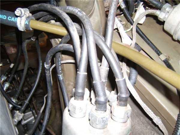 Фото высоковольтных проводов ГАЗ 66 в герметичном исполнении