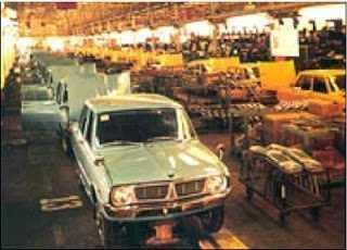 На фото – сборочный конвейер компании KIA 80-х