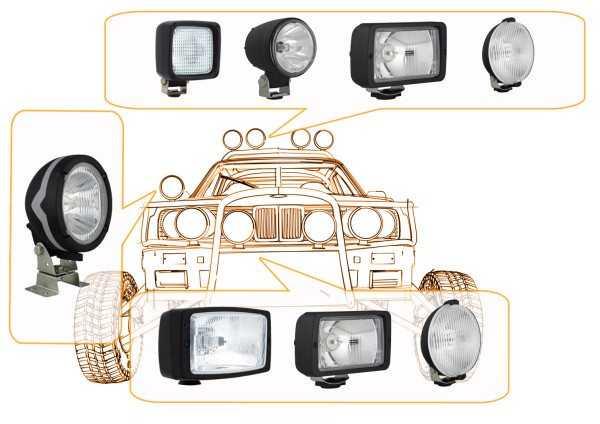На фото: дополнительные фары дальнего и ближнего света помогут значительно улучшить освещение, что повышает безопасность передвижения в условиях ограниченной видимости