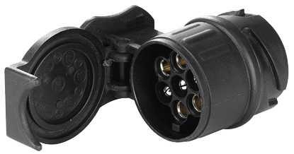 Подключение фаркопа прицепа на автомобиле через адаптер с 13 на 7 контактов