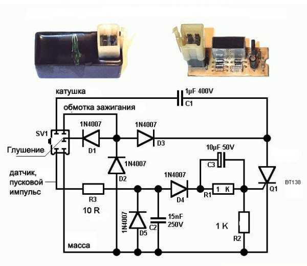 Проводка на мопеде Альфа с электронным коммутатором в системе зажигания