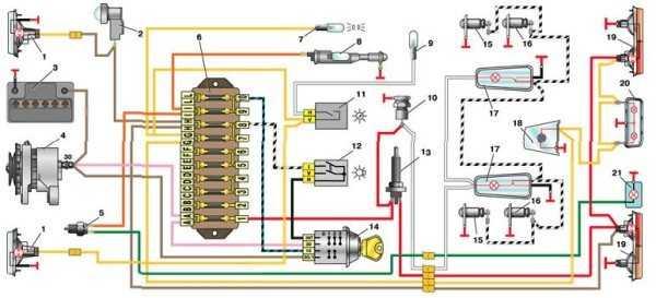 проводка на ваз 2101