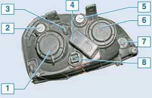 Схема блок-фары