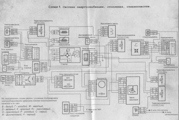 Схема электропроводки КАМАЗ 6520: внутрисалонная конфигурация, позаимствованная с бортовых моделей