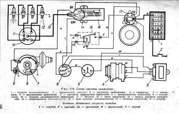схема электропроводки уаз 452