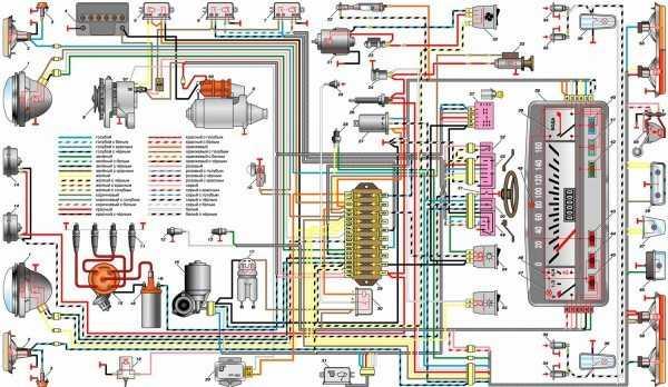 Схема электропроводки ваз 2101