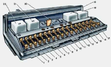 схема электропроводки ваз 21053