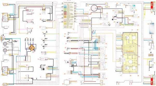 Схема электропроводки ваз 2107