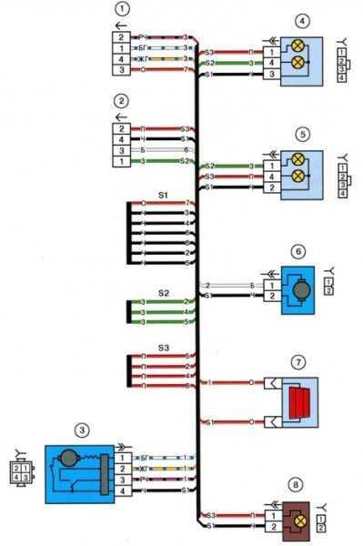 схема электропроводки ваз 2112