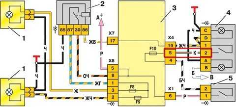 схема электропроводки ваз 2114 на инжектор