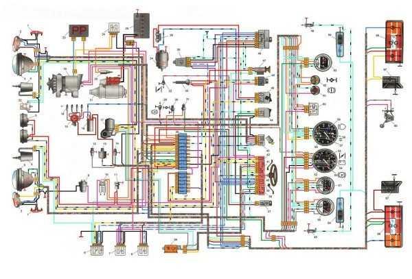 схема электропроводки ваз 2121