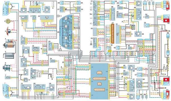 схема проводки проводки ваз 2112