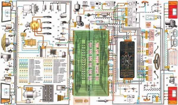 схема проводки ваз 21099 карбюратор