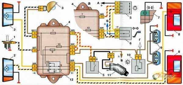 схема проводки ваз 2112 инжектор