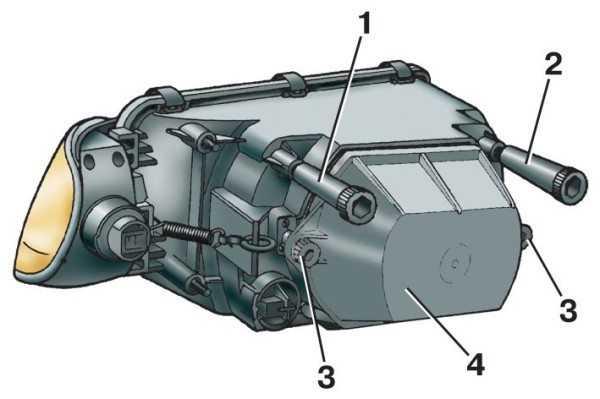 Схема расположения винтов фары ВАЗ 2114