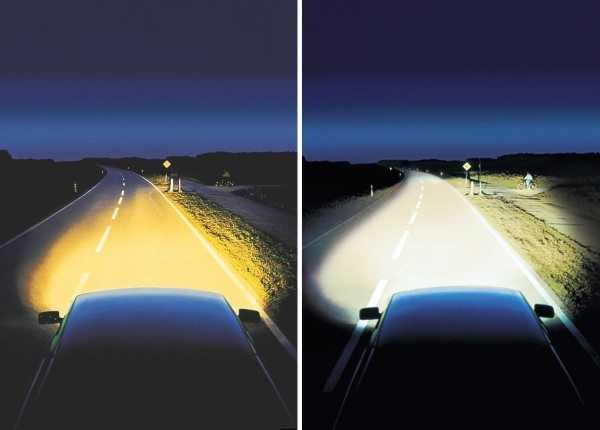 Сравнение света галогенных и ксеноновых ламп
