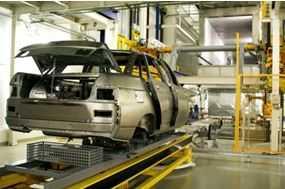 ВАЗ 2110 на заводском конвейере