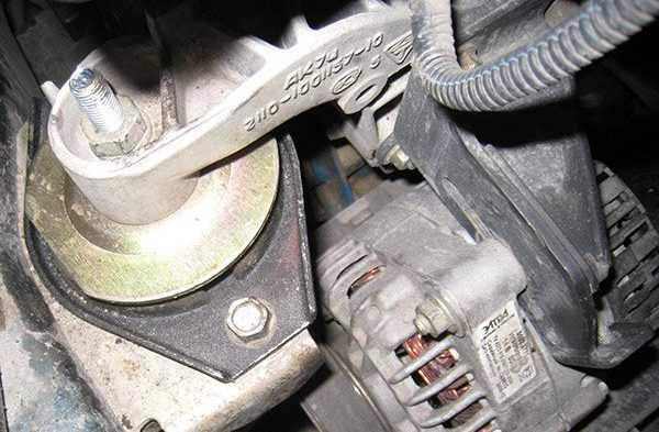 Самостоятельная проверка опорных подушек опор двигателя