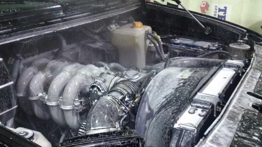 Мойка двигателя зимой