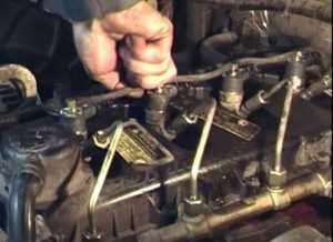 Установка форсунки на дизельный двигатель