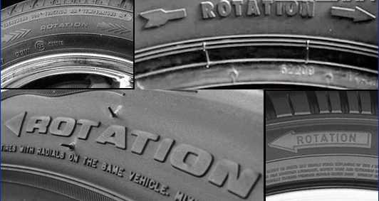 Надпись Rotation на шинах что значит