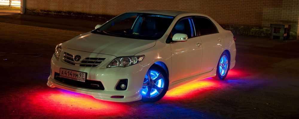 Неоновая подсветка днища авто