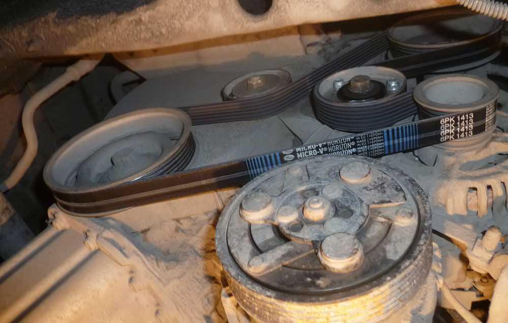Ремень в обход компрессора