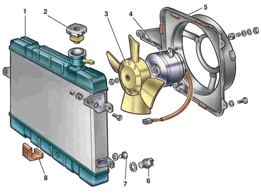 Схема расположения моторчика вентилятора в печке ВАЗ-2107