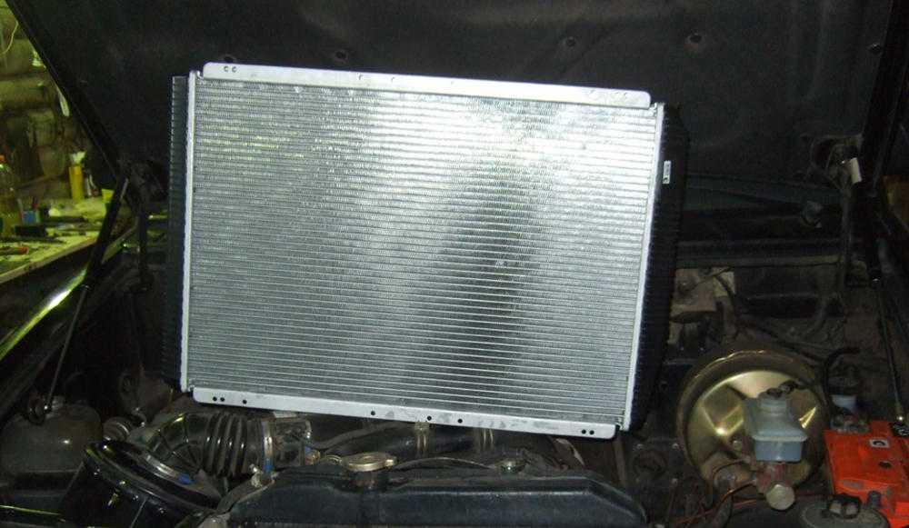 Промывание радиатора