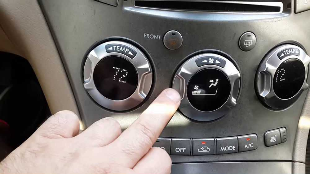 Управление климат-контролем Subaru Tribeca