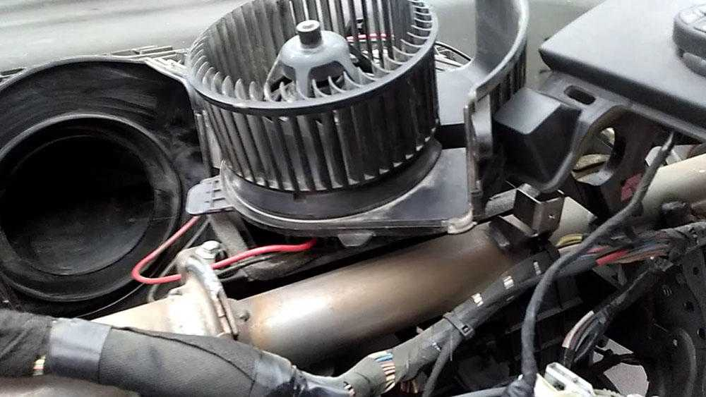 Замена вентилятора печки