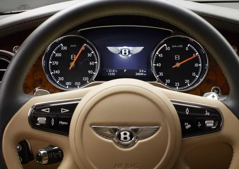 Приборная панель Bentley Mulsanne