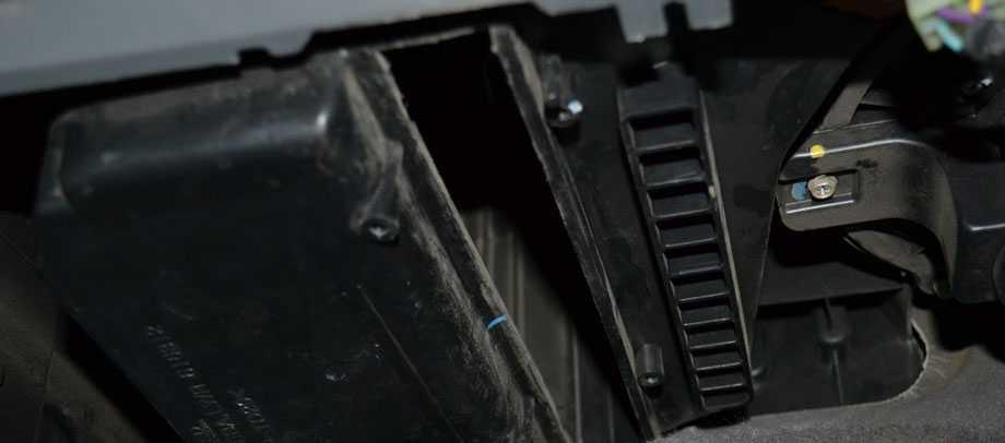 Чистка посадочного места салонного фильтра