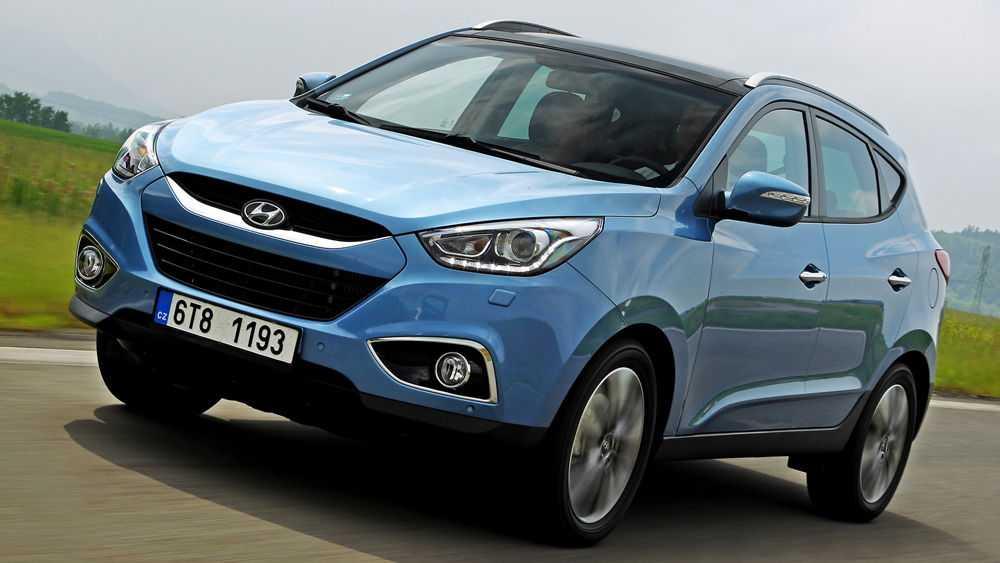 Hyundai ix35 голубого цвета