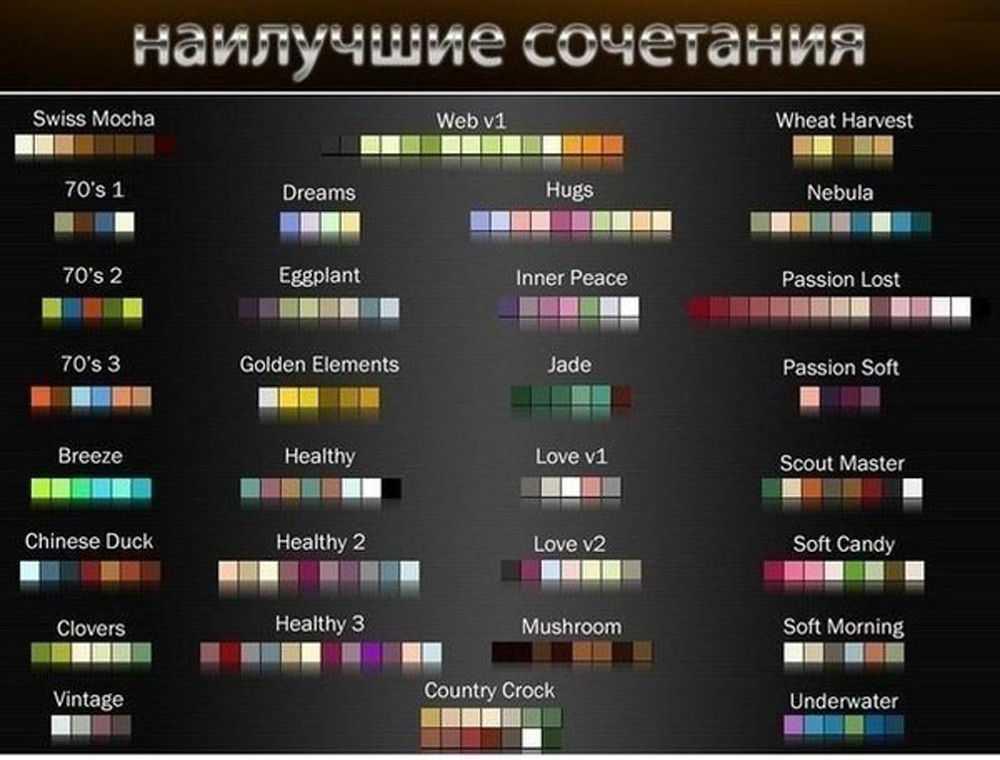 Наилучшие сочетание цветов