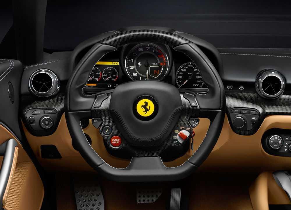 Салон и рулевое колесо Ferrari F12 Berlinetta