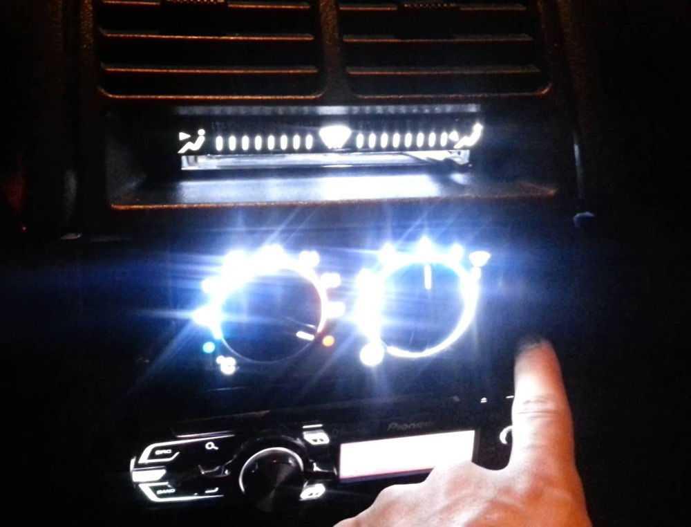 Подсветка блока печки ВАЗ-2110