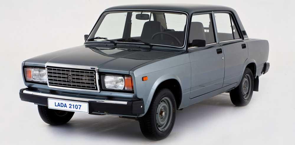 ВАЗ 2107 серого цвета