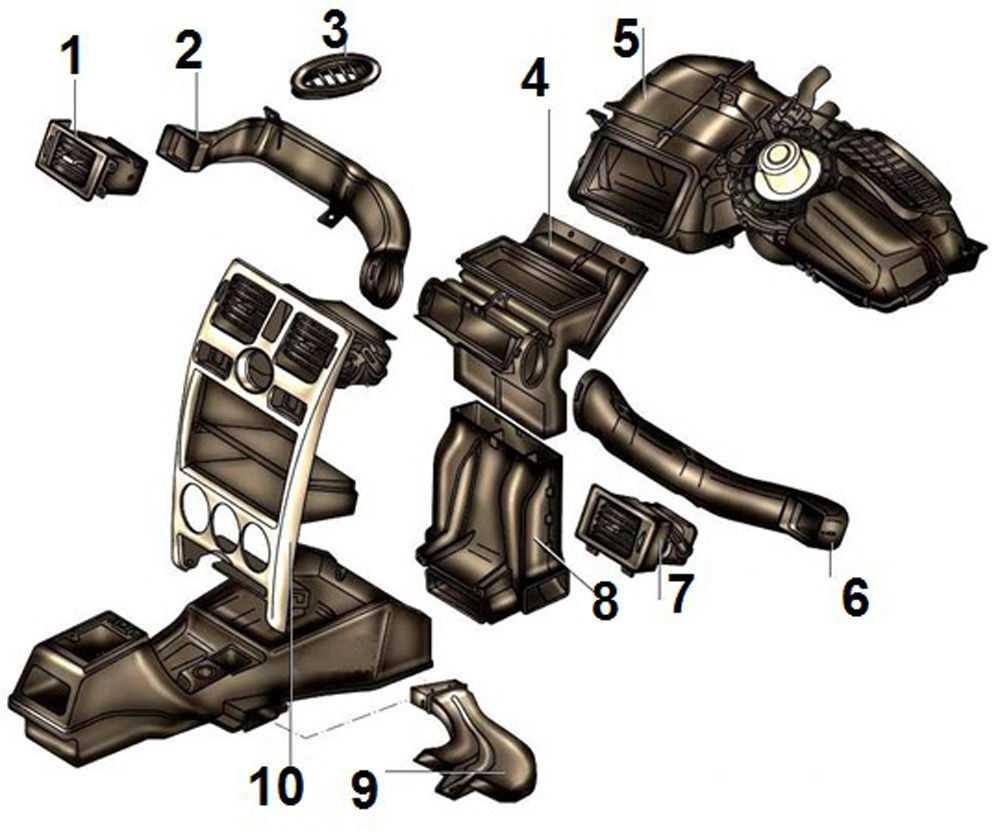 Схема отопителя Калина