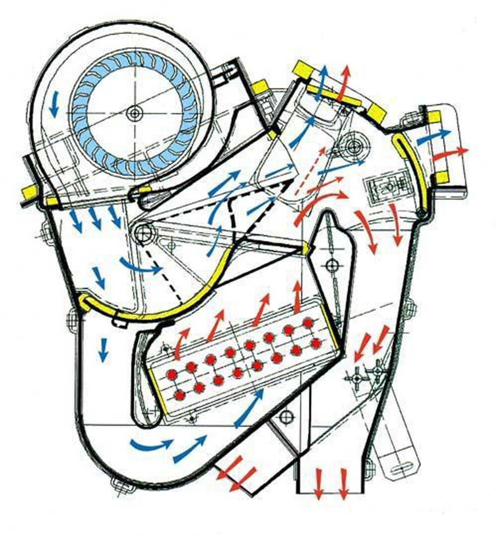Схема печки ВАЗ-2109