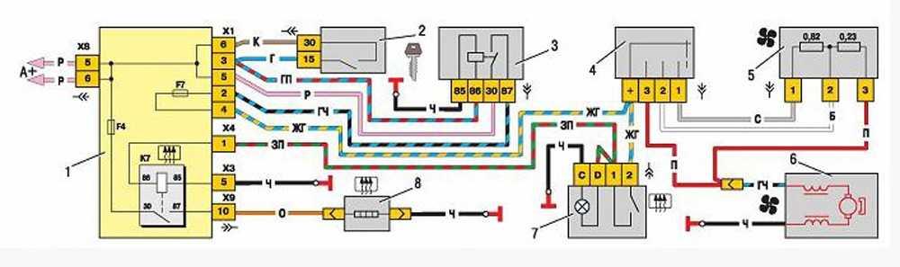 Схема подключения печки ВАЗ-2115