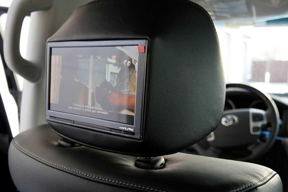 Мониторы в подголовниках Toyota LC200