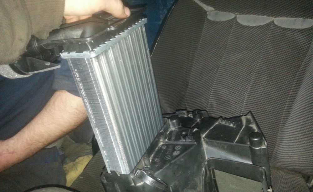 Установка чистого радиатора
