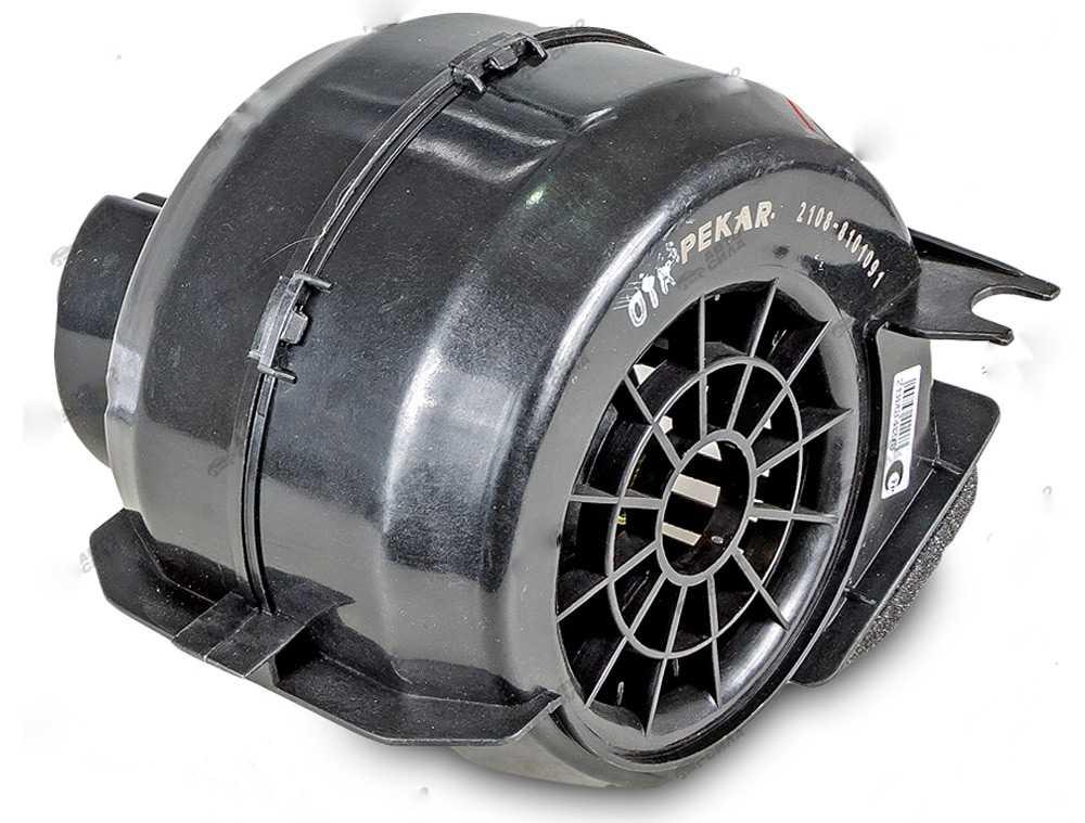 Вентилятор печки с кожухом на ВАЗ-2108