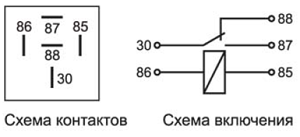 схема блокировки реле