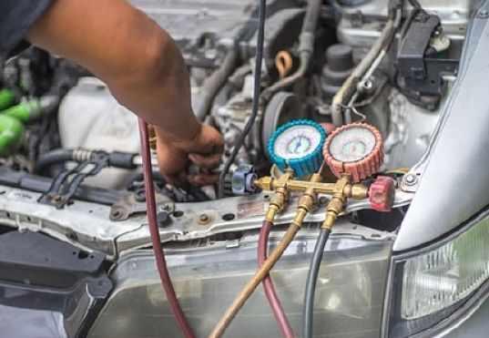 проверка давления азотом у автокондиционера