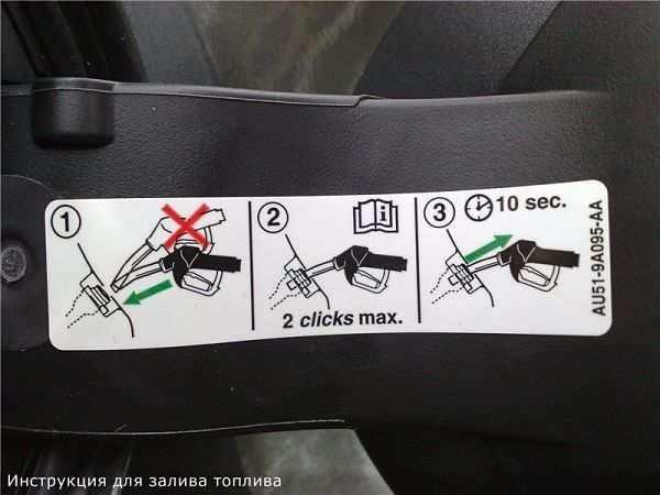 инструкция залива топлива