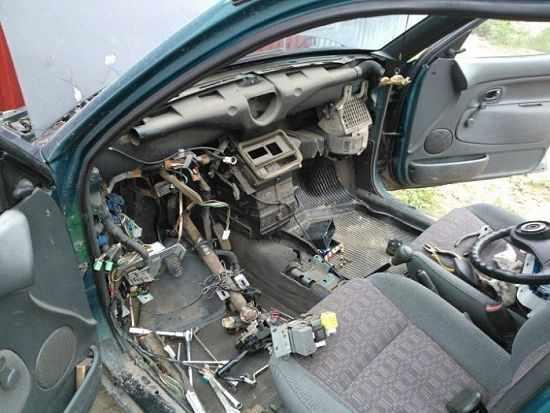 замена радиатора со снятием панали